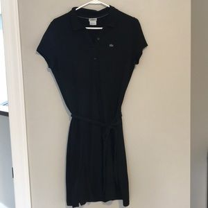 🐊 Lacoste Black Polo Dress